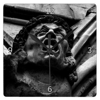 Agony of the Biting Imps Gothic Gargoyle Square Wallclocks