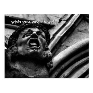 Agony of the Biting Imps Gothic Gargoyle Postcard
