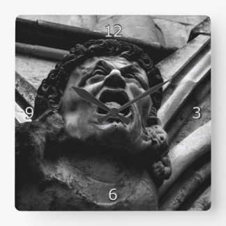 Agony of the Biting Imps Gothic Gargoyle Square Wall Clock