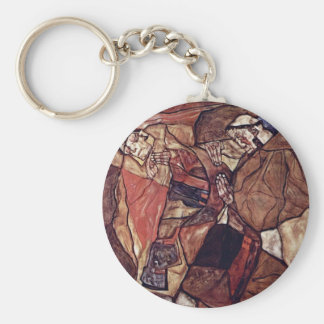 Agony (The Death Struggle) By Schiele Egon Keychain