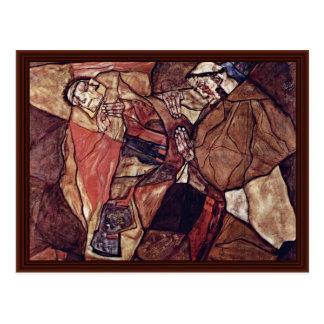 Agony (The Death Struggle) By Schiele Egon Postcards