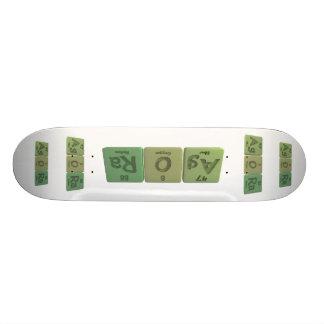 Agora-Ag-O-Ra-Silver-Oxygen-Radium Skateboard Deck