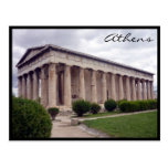 ágora Atenas del hephaestus Tarjeta Postal