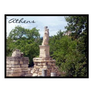 agora forum statue postcard