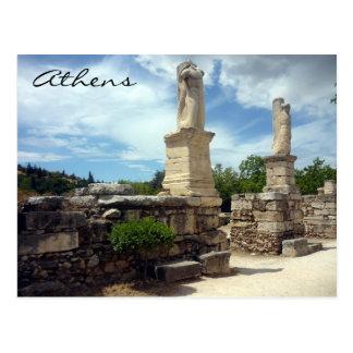 agora statues postcard