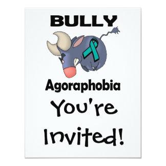 """Agorafobia del matón invitación 4.25"""" x 5.5"""""""