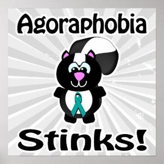 Agoraphobia Stinks Skunk Awareness Design Poster