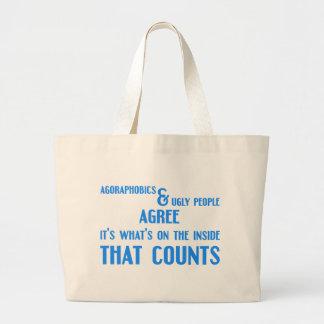 Agoraphobics Large Tote Bag