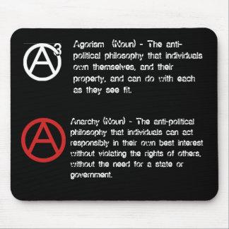 Agorism y anarquía definidos tapetes de raton
