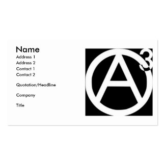 Agorist business cards