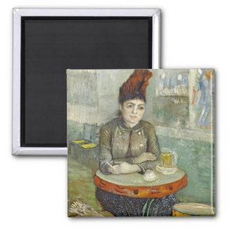 Agostina Segatori in Cafe du Tambourin by Van Gogh 2 Inch Square Magnet