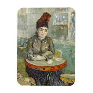 Agostina Segatori in Cafe du Tambourin by Van Gogh Rectangular Photo Magnet