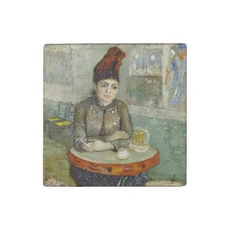 Agostina Segatori in Cafe du Tambourin by Van Gogh Stone Magnet