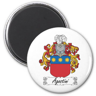 Agostini Family Crest 2 Inch Round Magnet