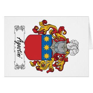Agostini Family Crest Card