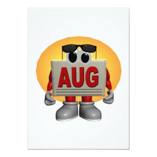 """Agosto Invitación 5"""" X 7"""""""