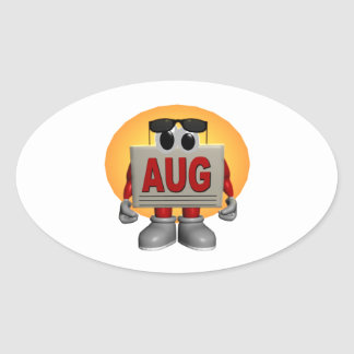 Agosto Pegatinas Ovaladas Personalizadas