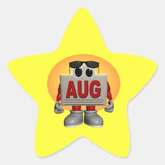 Agosto Calcomanías Forma De Estrellaes Personalizadas