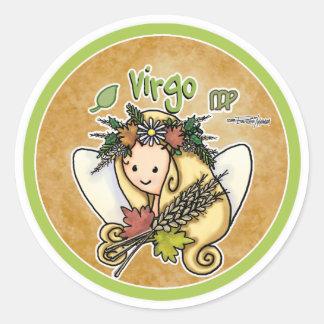 Agosto y septiembre - virgo etiqueta redonda