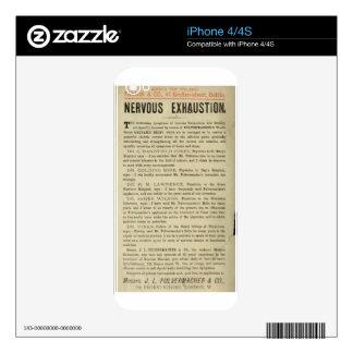 Agotamiento nervioso iPhone 4 skins