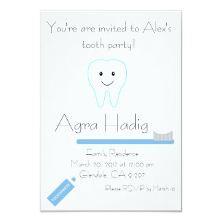 Agra Hadig Tooth Party Card