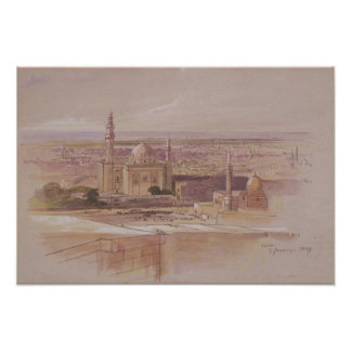 Agra Mosque, Cairo, 1849 Poster