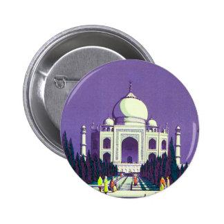 Agra ~ Taj Mahal 2 Inch Round Button