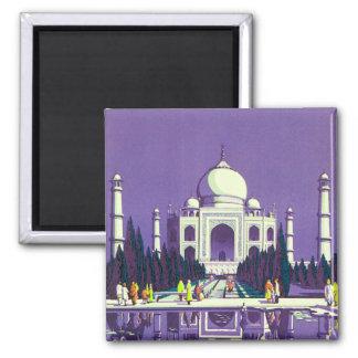Agra ~ Taj Mahal 2 Inch Square Magnet