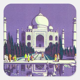 Agra ~ Taj Mahal Square Sticker