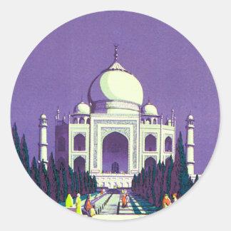 Agra ~ Taj Mahal Classic Round Sticker