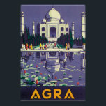 """Agra Vintage Travel Poster<br><div class=""""desc"""">This product features Agra vintage travel poster artwork. Like this design,  but you want to tweak it? Just click on &quot;Customize&quot; to add text or adjust things to your liking.</div>"""
