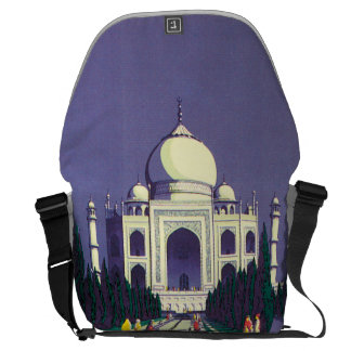 Agra Vintage Travel Poster Courier Bag