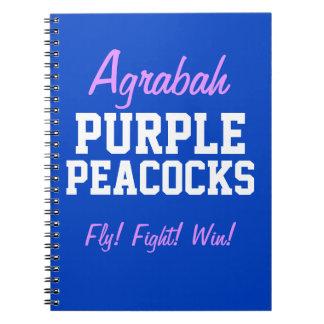 Agrabah Purple Peacocks Notebook