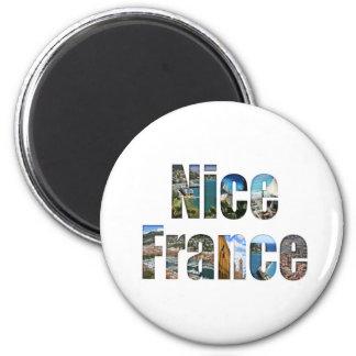 Agradable, atracciones turísticas de Francia en le Imán De Frigorifico