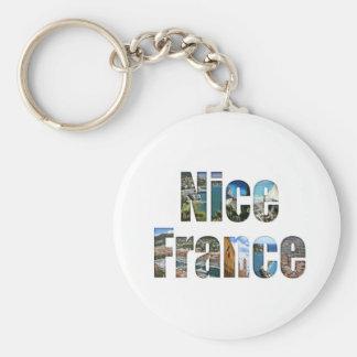 Agradable, atracciones turísticas de Francia en le Llavero Redondo Tipo Pin