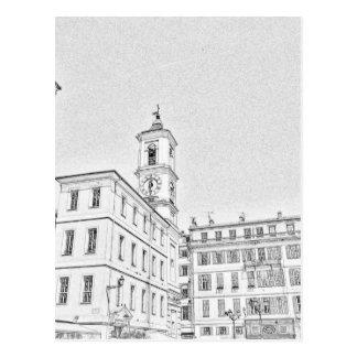 Agradable, calles de la ciudad de Francia Postal