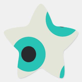 Agradable legendario independiente inteligente pegatina en forma de estrella