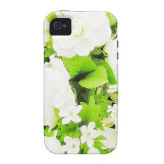 Agradable magnífico lindo de la paz floral del carcasa iPhone 4