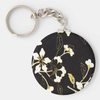 Agradable magnífico lindo de la paz floral del cua llavero redondo tipo pin