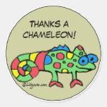Agradece a los pegatinas personalizados un camaleó pegatinas redondas