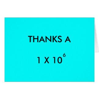 AGRADECE A MILLÓN - tarjeta del de agradecimiento