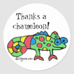 Agradece a un pegatina del camaleón