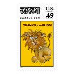 Agradece franqueo del león de millón de personaliz
