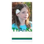 Agradece la tarjeta de la foto tarjetas fotográficas