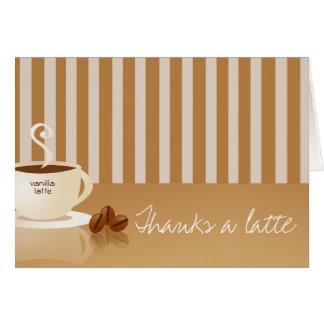 Agradece las tarjetas de un Latte