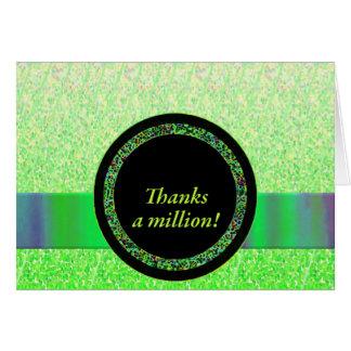 Agradece millón de Notecards Tarjeta Pequeña