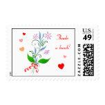 Agradece sellos florales del manojo