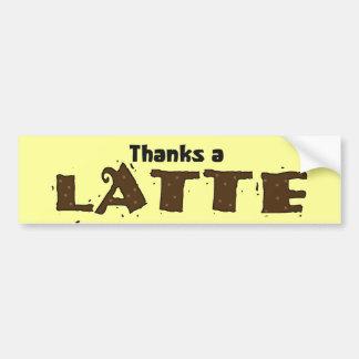 Agradece un Latte Pegatina Para Auto