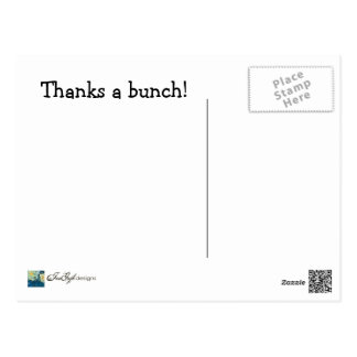 Agradece un manojo--Gracias postal