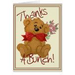 Agradece un oso del manojo tarjeta de felicitación